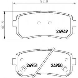 Kit de 4 Plaquettes de Frein FERODO (FDB4235)