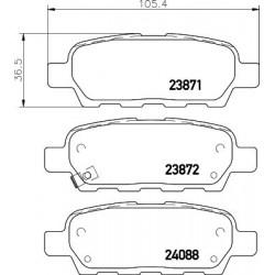 Kit de 4 Plaquettes de Frein TEXTAR (2387101)