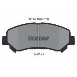 Kit de 4 Plaquettes de Frein TEXTAR (2463201)