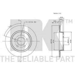 Disque de frein vernis NK (BS 1391)