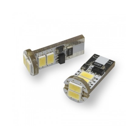 W5W T10 canbus avec 6 LED 6000K