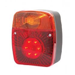 WAS *LED* 101 x 121mm, Feu arrière LED, clignotant: Ampoule