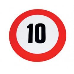 Plaque limitation de vitesse 10km/h