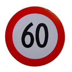 Plaque limitation de vitesse 60km/h