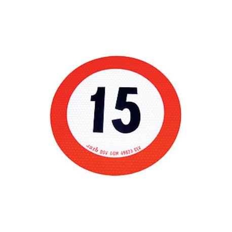 Plaque limitation de vitesse 15km/h