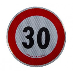 Plaque limitation de vitesse 30km/h