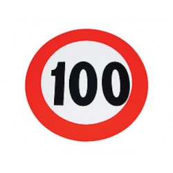 Plaque limitation de vitesse 100km/h