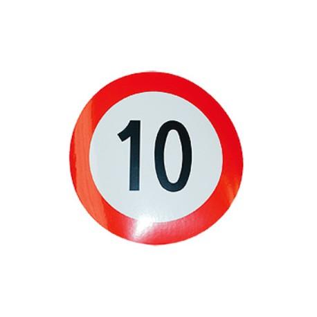 Plaque limite de vélocité 10km/h
