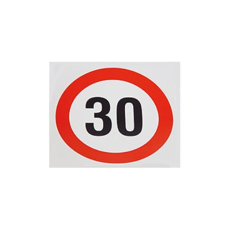 Plaque limitation de vitesse 30km/h