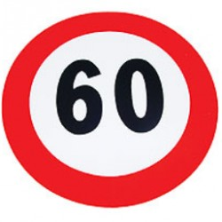 Plaque limitation de vitesse 60km/h