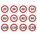 Plaques vitesse limité